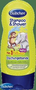 BÜBCHEN Kids šampón na sprchový gél 2v1 Partička z džungle 230 ml