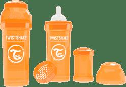 TWISTSHAKE antikoliková fľaša 260ml Oranžová
