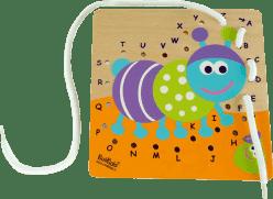 BOIKIDO Drewniany Sznurowany alfabet Stonoga