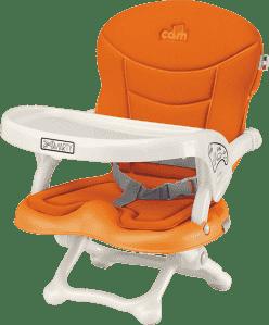 CAM Krzesełko do karmienia z miękkim obiciem Smarty – pomarańczowe