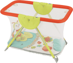 CAM Kojec Brevettato z matą edukacyjną i zabawkami – kolorowe zwierzątka