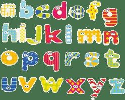 BOIKIDO Magnety malá písmenka 59 ks