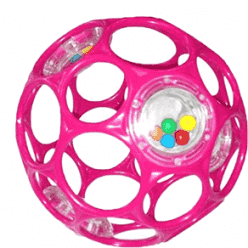 BRIGHT STARTS Zabawka/grzechotka OBALL RATTLE 10 cm, 0m+ (różowa)