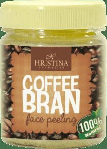 HRISTINA Přírodní peeling z kávových zrníček, 200 ml