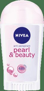 NIVEA Tuhý Antiperspirant Pearl a Beauty 40ml