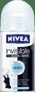 NIVEA Guľôčkový Antiperspirant Black a White Pure 50ml