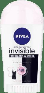 NIVEA Invisible Clear Black&White antyperspirant w sztyfcie 40 ml