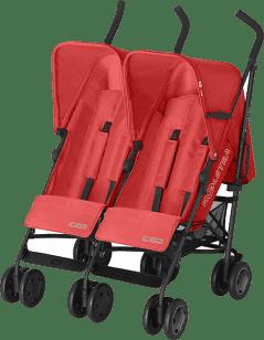KOELSTRA Wózek spacerowy dla bliźniąt Simba Twin T4 – Red