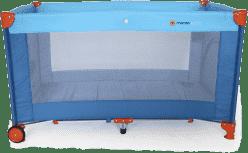 PETITE&MARS Postieľka cestovná - Koot modrá s lietadlom
