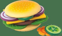 WOODY Zestaw Przygotuj swojego hamburgera