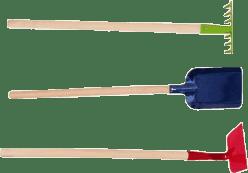 WOODY Zestaw narzędzi ogrodowych (motyka, grabie, łopatka)