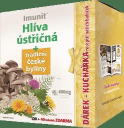IMUNIT Hliva ustricová + tradičnej českej byliny 120 + 40 toboliek + kuchárka
