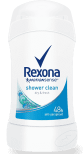 REXONA deo stick Shower Clean 40ml (antiperspirant)