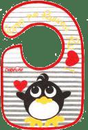 BABY ONO Śliniaczek frote/PVC mały, wodoodporny, 3m+ - Pingwin