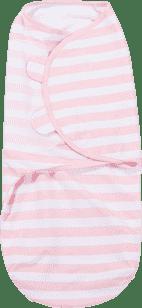 SUMMER INFANT Otulaczek SwaddleMe L różowe / białe prążki
