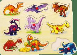 BINO Puzzle na podkładce, dinozaury