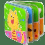 BABY ONO Mini knížka do vody pískací - Kočka