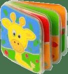 BABY ONO Mini knížka do vody pískací - Žirafa