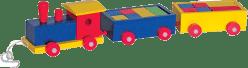 WOODY Kolorowy pociąg - 2 wagoniki z klockami