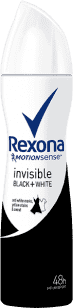 REXONA deo spray Invisible Black+White 150ml (antiperspirant)