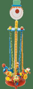 WOODY Zabawka jeżdżąca – Klauny ze zwierzątkami
