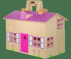 WOODY Domček pre bábiky / kufrík