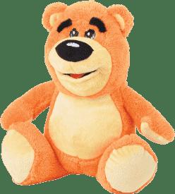 MIKRO TRADING Medveď plyšový 30cm - oranžová