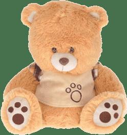 MIKRO TRADING Medvěd plyšový 40cm - hnědý