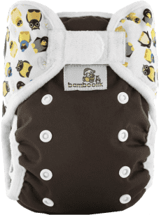 BAMBOOLIK Vrchné nohavičky, hnedá+vtáčiky