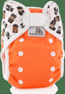 BAMBOOLIK Svrchní kalhotky, oranžová+zvířátka