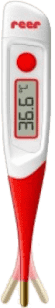 REER Digitálny teplomer s pozlátenou ohybnou špičkou