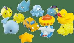 BABYMOOV Zabawki do wody Przyjaciele chłopca 12 szt.