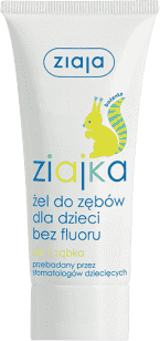 ZIAJA Baby zubní gel bez fluoru 50ml / Veverka/