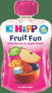 HIPP BIO ovocné pyré Broskve-Lesní ovoce 90g