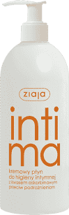 ZIAJA Krém na intímnu hygienu - s kyselinou askorbová, podráždenie 500ml