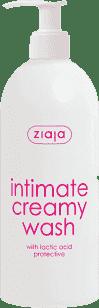 ZIAJA Krém na intímnu hygienu s kyselinou mliečnou, ochranná 500ml