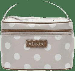 BEBE-JOU Beautycase-kozmetická, odopínacie veko, natural bodky