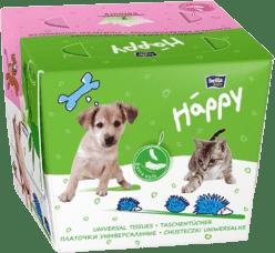 BELLA HAPPY papierové vreckovky 80ks (farebná krabička s 2 otvormi)