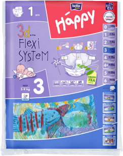 BELLA HAPPY Midi (5-9kg) 1ks – jednorázové pleny