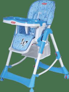 PATRON Jedálenská skladacie stoličky pre deti troll- modrá / motýľ