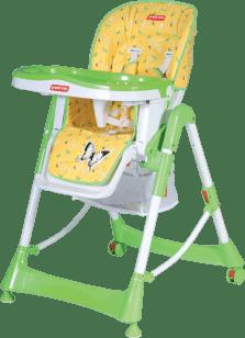 PATRON Jedálenská skladacie stoličky pre deti troll - žltá / motýľ