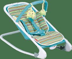 PATRON Lehátko detské relax - azúrovej pruhy