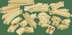 BIGJIGS Drevené koľaje vláčikodráhy - Set 25 dielov