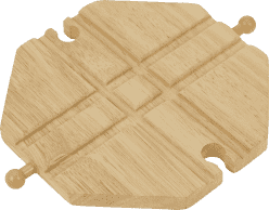 BIGJIGS Skrzyżowanie do drewnianej kolejki