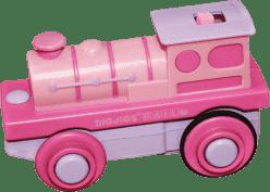 BIGJIGS elektrická lokomotíva - Mašinka na baterky ružová
