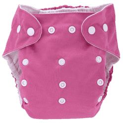 BOBOLIDER Plienkové nohavičky ECO Bobolider B18 - ružovej, vložka z mikrovlákna
