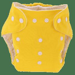 BOBOLIDER Plienkové nohavičky ECO Bobolider B1 - žlté, bambusová vložka