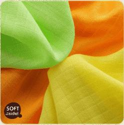 KIKKO Bambusové obrúsky Colours 30x30  (9ks) – lime, lemon, orange
