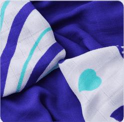 KIKKO Bambusové ubrousky Hearts&Waves 30x30  (9ks) – ocean blue