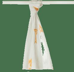 KIKKO Bambusová osuška/plena Stars 90x100 (1ks) - orange